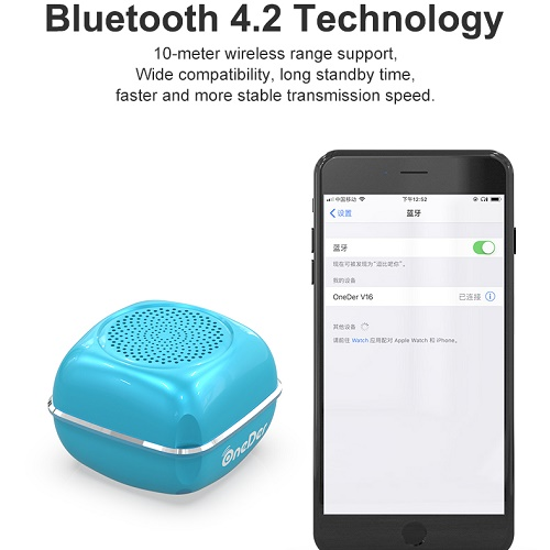 V16 Bluetooth Speaker With Microphone