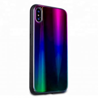 Iphone X Aurora TPU Glas Handy Fall Abdeckung