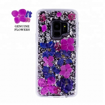 Samsung galaxy s9 plus gepresste Blume Handy-Cover