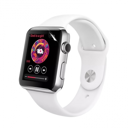 Apple Watch Series 3 Flexible Transparent Nano TPU Displayschutzfolie 38Mm