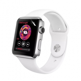 Apple Watch Series 3 flexible transparente Nano TPU Displayschutzfolie 38mm