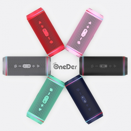 OneDer V10 Super Portable Multifunktions- und blinkende LED-Licht Wireless Bluetooth-Lautsprecher